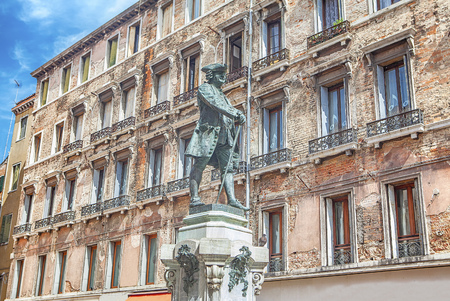 Statue of Carlo Goldoni Stock Photo