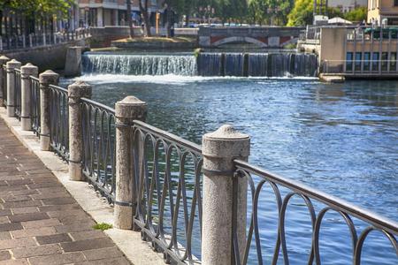 balustrades on the riverside