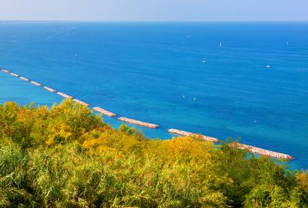 summer littoral scenery Stock Photo