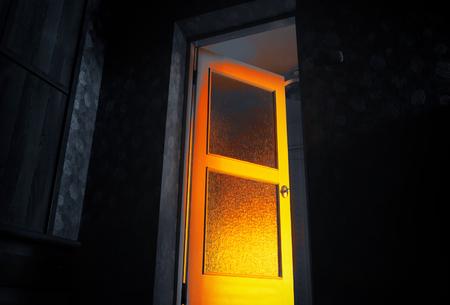 mystic door and black wall