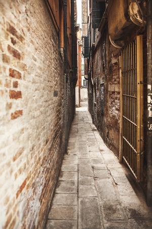 traditional narrow Italian street