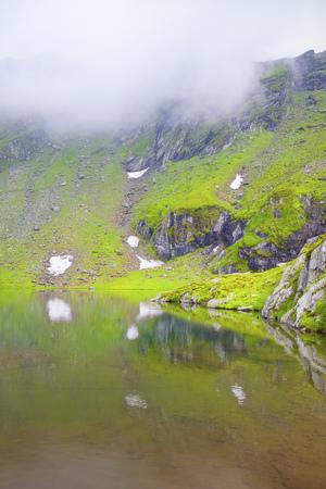 fog over the lake Banco de Imagens