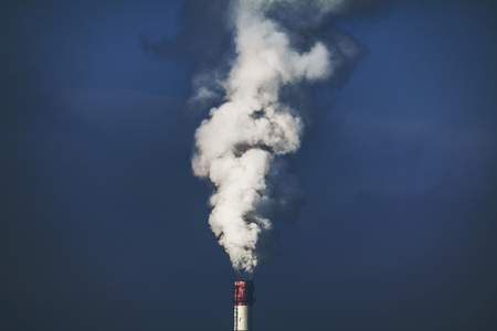 air pollution through the pipe Stock Photo