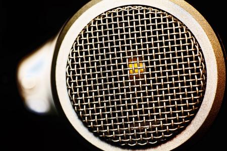 mesh surface of microphone Reklamní fotografie
