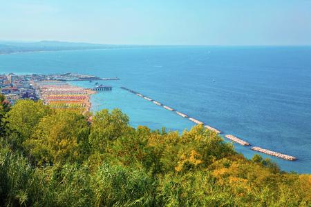 mediterranean coast in the summer