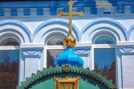 cross on the church Stock Photo