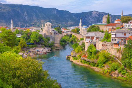 view of Mostar city