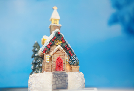 toy house decoration for Christmas Stock Photo