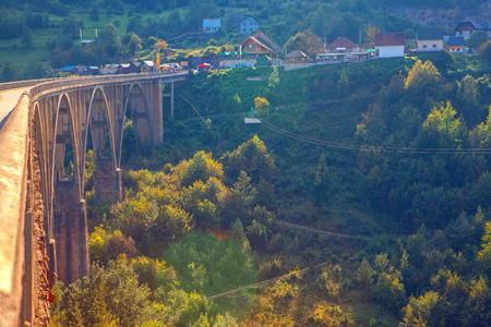 Famous Djurdjevica Tara Bridge in Montenegro 写真素材