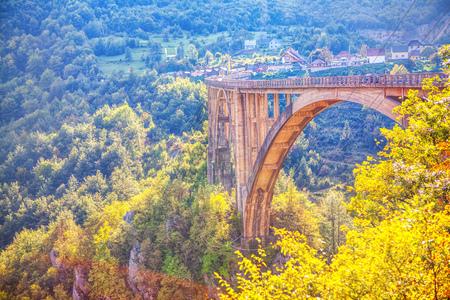 Famous Djurdjevica Tara Bridge 写真素材