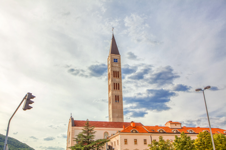 Franciscan Church Bell Tower, Mostar Stock Photo