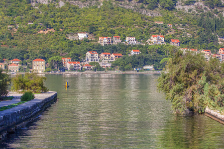 channel is flowing in the Kotor Bay