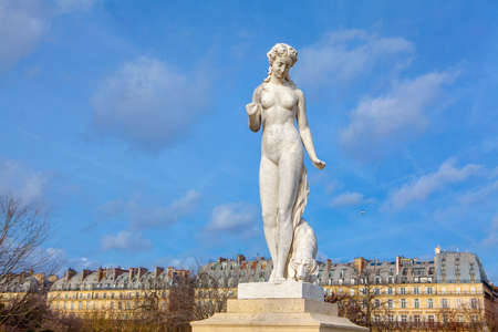 sculpture woman in Tuileries Garden ,Paris