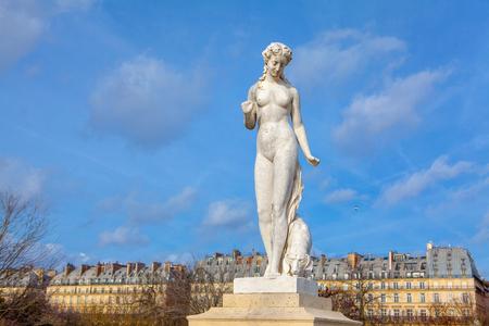 sculpture woman in Tuileries Garden ,Paris