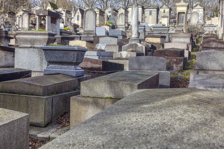 stone tombs of Pere Lachaise cemetery Editorial