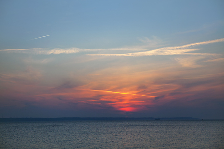 charming sunset over North Sea