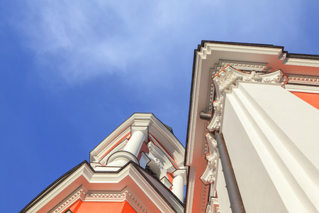baroque building , architecture detail of orthodox church