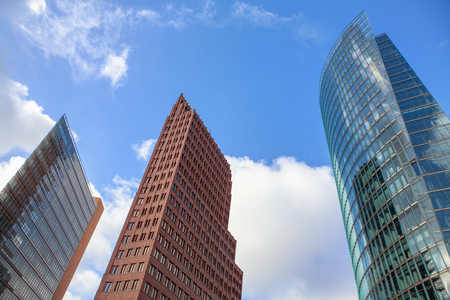 modern skyscrapers in capital city Stock Photo