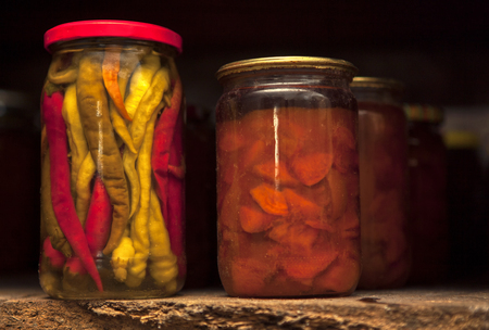 vegetables preserved in home conditions