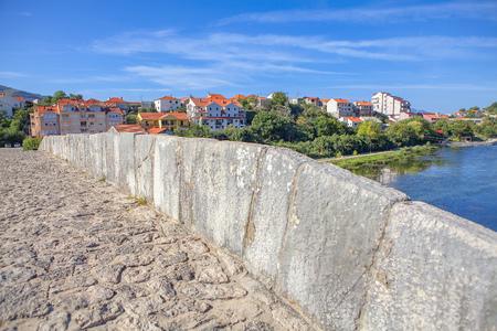 Medieval bridge over Trebisnjica river in Trebinje town Reklamní fotografie