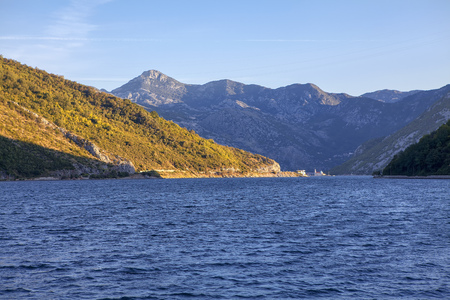 landscape of mountains and Kotor Bay