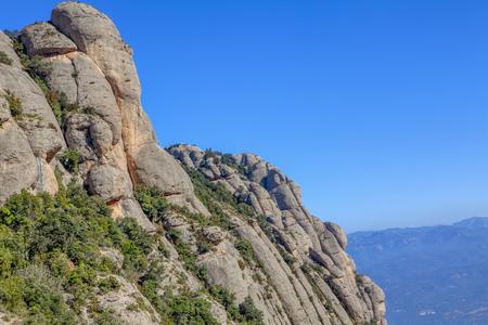 beautiful rocky cliffs of Montserrat