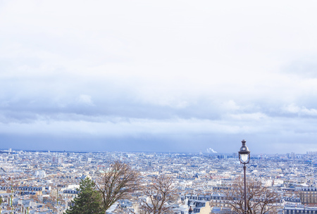 Panorama of Paris city , France