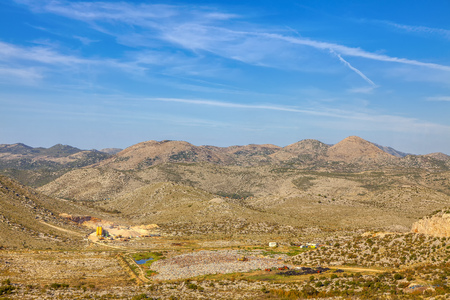 stone quarry in the mountains , summer landscape Reklamní fotografie