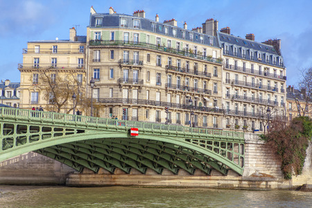 Pont de Sully in Paris Stok Fotoğraf
