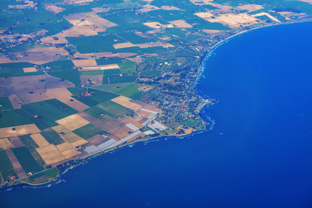 Sweden coast aerial view and blue sea Reklamní fotografie