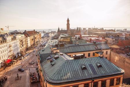aerial panorama of Helsingborg town from Sweden Reklamní fotografie