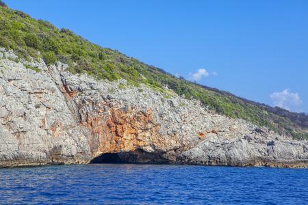 coastal cave in Adriatic Sea Reklamní fotografie