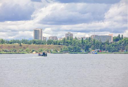 Serhiivka town and Budaki Lagoon in Ukraine Reklamní fotografie
