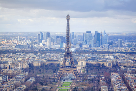 panorama of French capital city Stock Photo