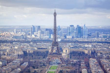 panorama van de Franse hoofdstad Stockfoto