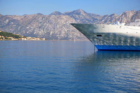 front part of the white cruise liner Reklamní fotografie