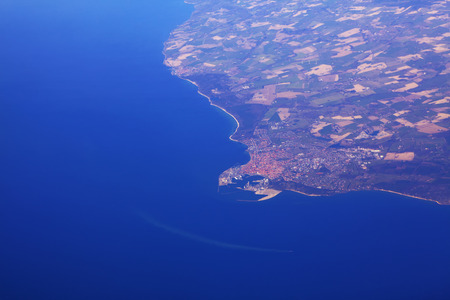 Aerial view of Bornholm , Danish island in the Baltic Sea Reklamní fotografie