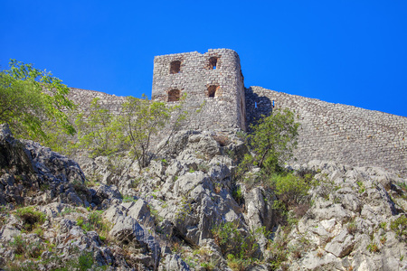 Kotor old town , fortress on the cliff