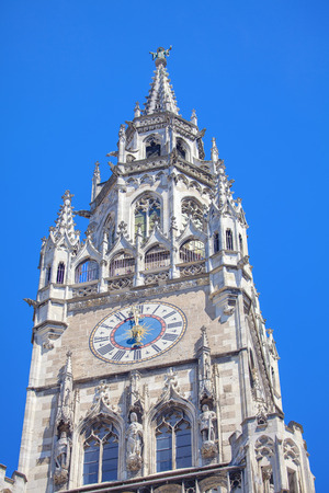 tower with clock of New Town Hall in Munich Reklamní fotografie