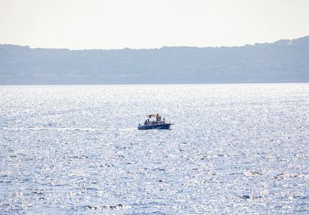 people sailing on a motorboat Reklamní fotografie - 124903298