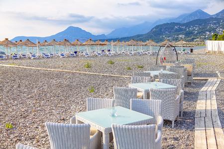 summer terrace on the tropical beach