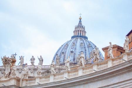 Cupola and sculptures of St. Peter's Basilica
