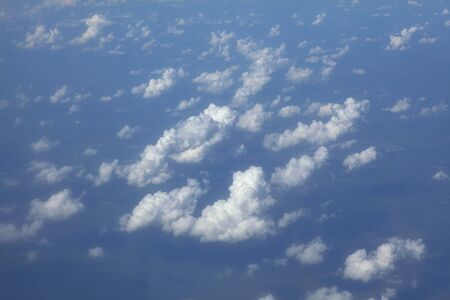 Aerial view of altocumulus clouds