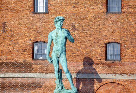 David statue in Copenhagen, Denmark Stok Fotoğraf