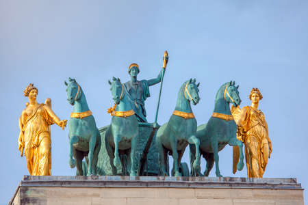 Statues of Carrousel Arc de Triomphe in Paris