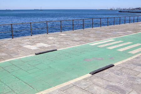 walk path on the ocean shore
