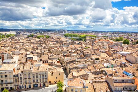 Bordeaux panoramic view of the city Stock Photo