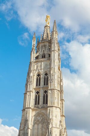 Famous Pey Berland Tower in Bordeaux
