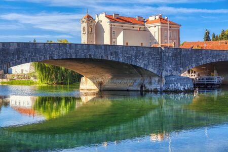 Trebisnjica river and Kameni Most in Trebinje , Bosnia and Herzegovina