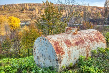 old metal barrel for industry Zdjęcie Seryjne